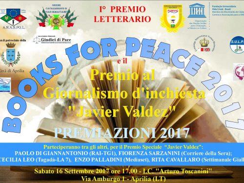 IL VIDEO DELLE PREMIAZIONI 2017 – BOOKS FOR PEACE E JAVIER VALDEZ