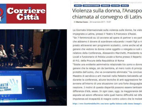 2017 Giornata sulla Violenza contro le Donne – rassegna stampa