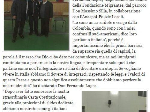 Nettuno, Conferenza sulla legalità spiegata agli immigrati – Rassegna stampa
