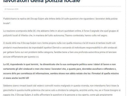 Viterbo: Dura risposta alla UIL che aveva attaccato il Diccap ed i lavoratori
