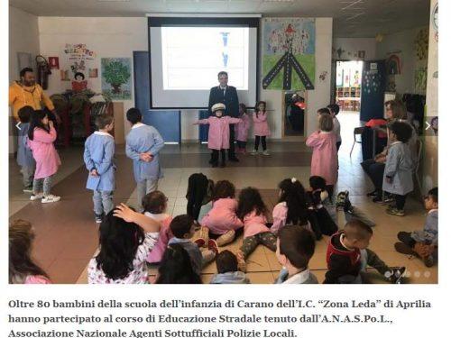 Corso di educazione stradale alla Scuola dell'Infanzia Carano di Aprilia