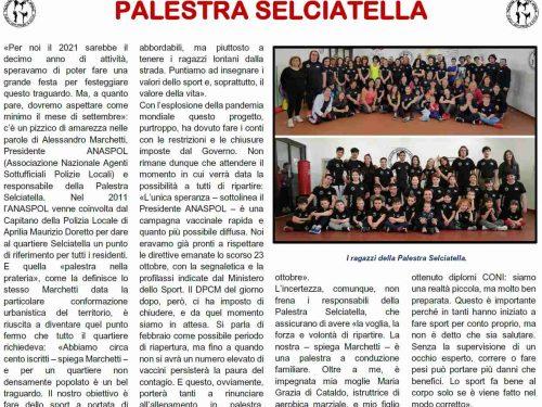 Sul Corriere Sportivo di Aprilia del febbraio 2021 i DIECI anni di attività della Palestra Selciatella
