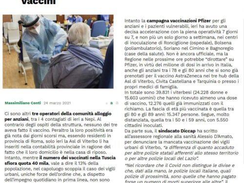 Viterbo, sollecitata la Regione a vaccinare le P.L.
